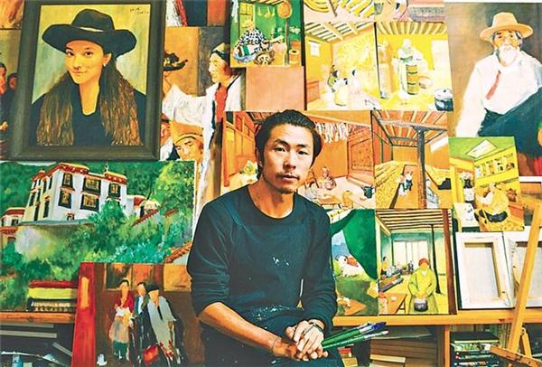 仝海明在拉萨创作的日子:用线条勾勒写意人生7.jpg
