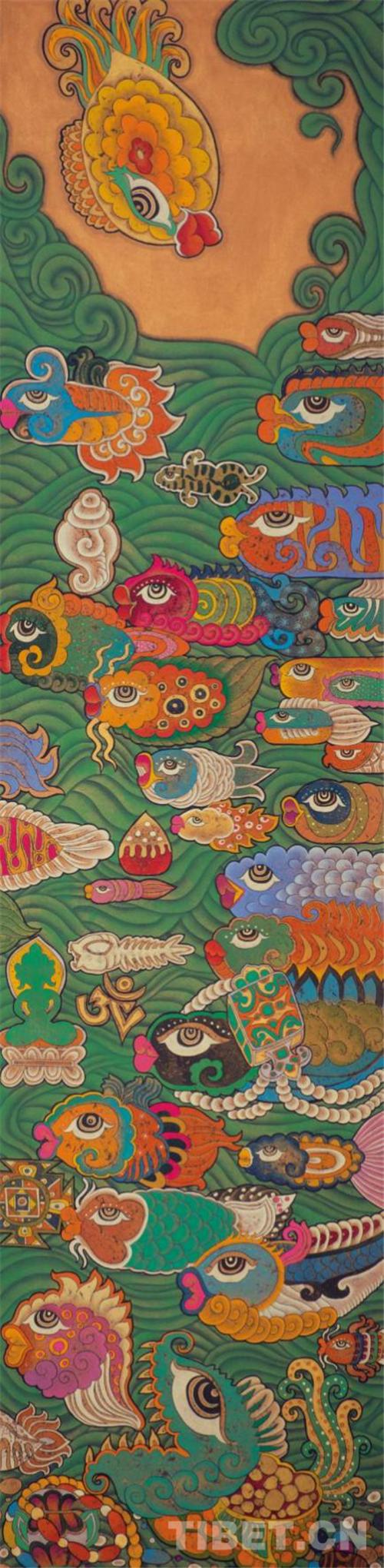 """德珍:藏族画家的""""卡通世界""""2.jpg"""