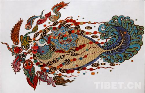 """德珍:藏族画家的""""卡通世界""""3.jpg"""