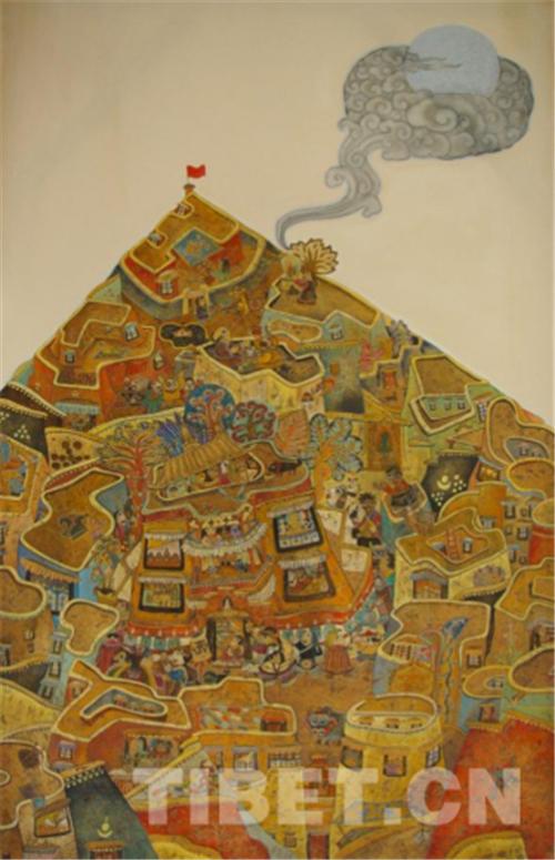 """德珍:藏族画家的""""卡通世界""""4.jpg"""