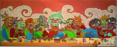 """德珍:藏族画家的""""卡通世界""""5.jpg"""