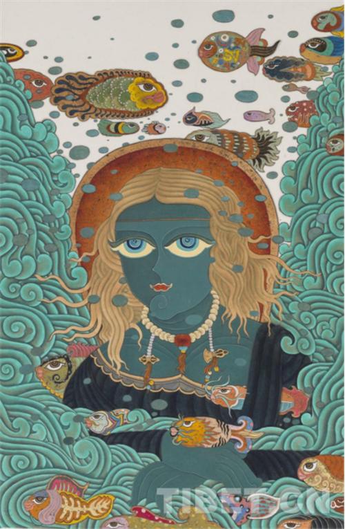 """德珍:藏族画家的""""卡通世界""""6.jpg"""