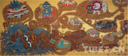 """德珍:藏族画家的""""卡通世界""""7.jpg"""