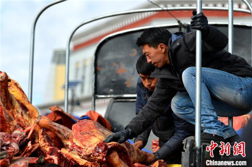 展现羌塘草原特色 西藏那曲畜产品展销会开幕3.jpg