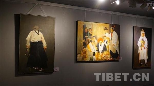 《看·见》仝海明西藏十年油画展在拉萨展出