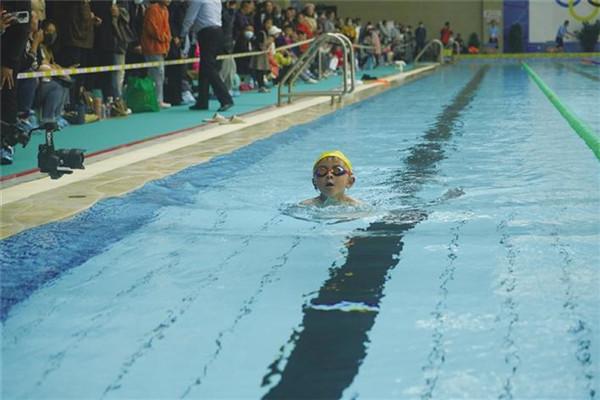 西藏自治区拉萨市首届中小学游泳比赛举行