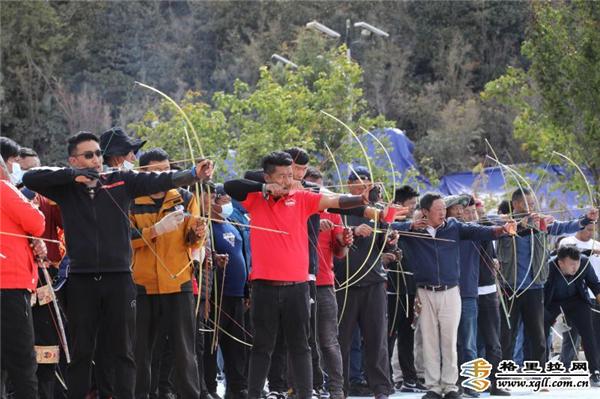 云南省迪庆州德钦县举办第四届格萨尔射箭节