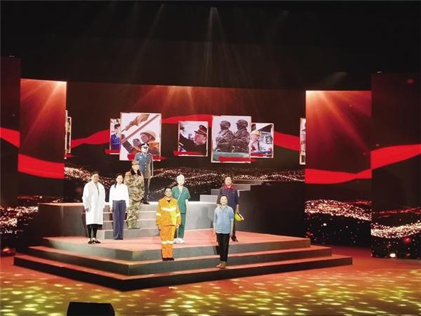西藏话剧团创演 朗诵剧《光辉永颂》拉萨隆重上演