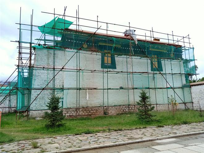 罗布林卡开展9大宫殿古建修缮工作 工程量已过半