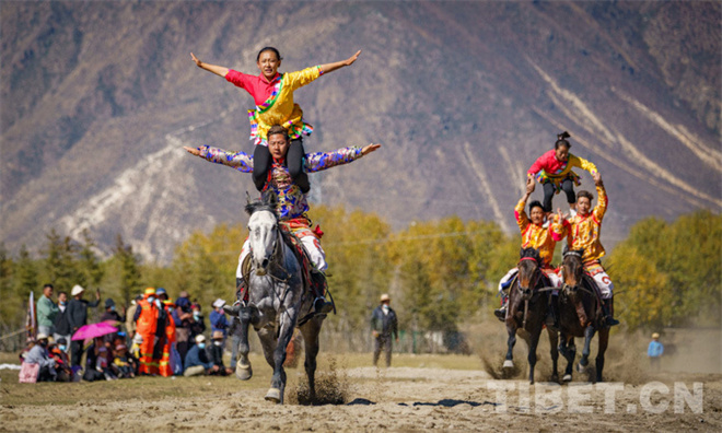 下基层 西藏民族传统马术表演走进墨竹工卡县
