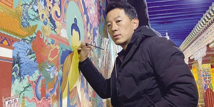 贡觉杰:藏族唐卡勉萨派自治区级代表性传承人