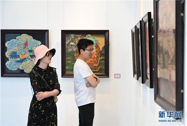 """""""雪域之光——中国唐卡漆画创新实践成果展""""在福州举行1.jpg"""