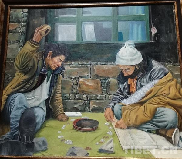 西藏青少年书画大展拉萨开幕 向社会大众免费展览5.jpg