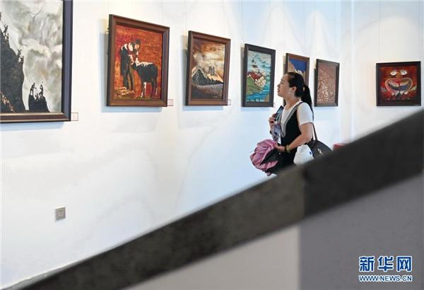 """""""雪域之光——中国唐卡漆画创新实践成果展""""在福州举行3.jpg"""