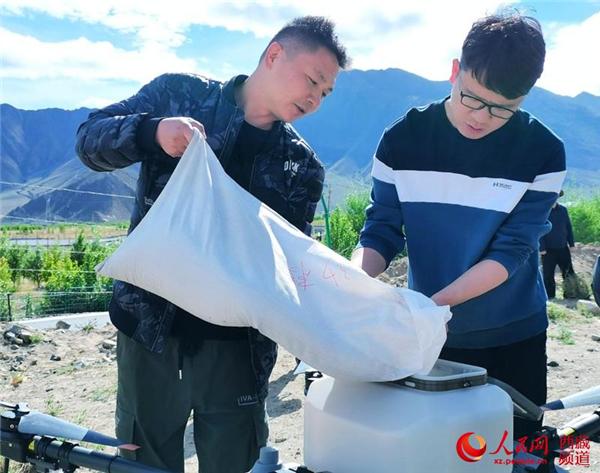西藏首次使用无人机精准飞播造林种草3.jpg