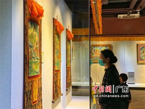 80余幅国家级非遗大师唐卡作品广东省东莞市展出3.jpg